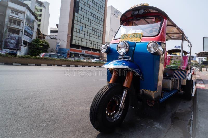 Tuk-tuks in Bangkok stockfoto