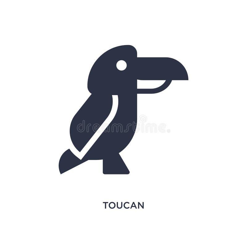 Tukanikone auf weißem Hintergrund Einfache Elementillustration von brazilia Konzept lizenzfreie abbildung