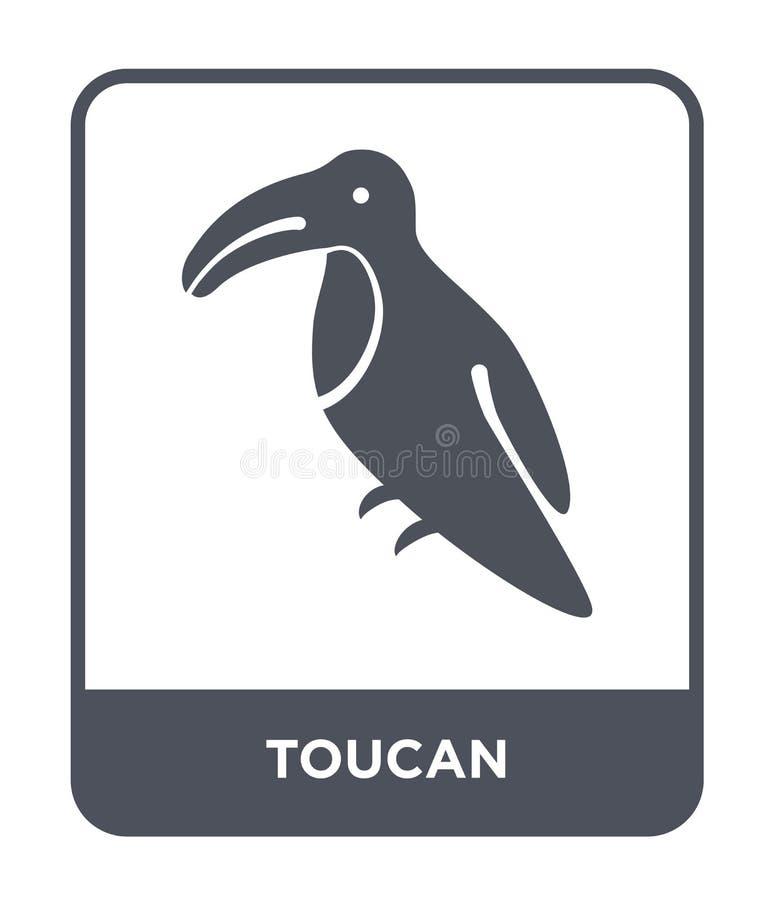 tukansymbol i moderiktig designstil tukansymbol som isoleras på vit bakgrund enkelt och modernt plant symbol för tukanvektorsymbo vektor illustrationer