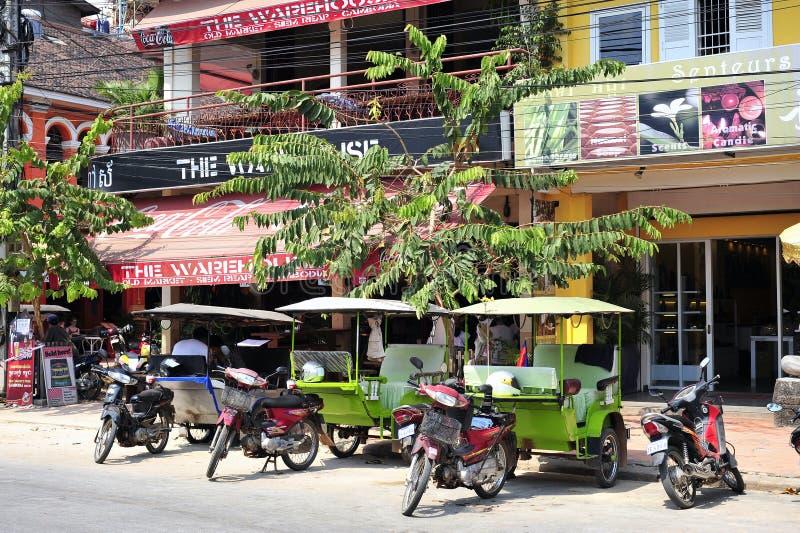 TukTuk, Angkor Wat Stadt stockbild