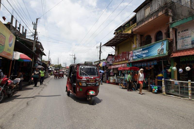 Tuktuk in Guatemala stockbilder
