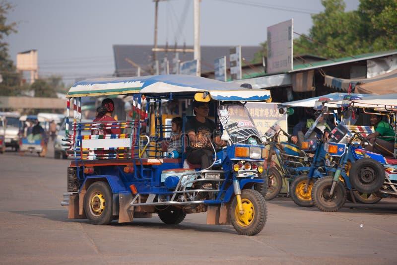 TukTuk taxi i Laos arkivfoto