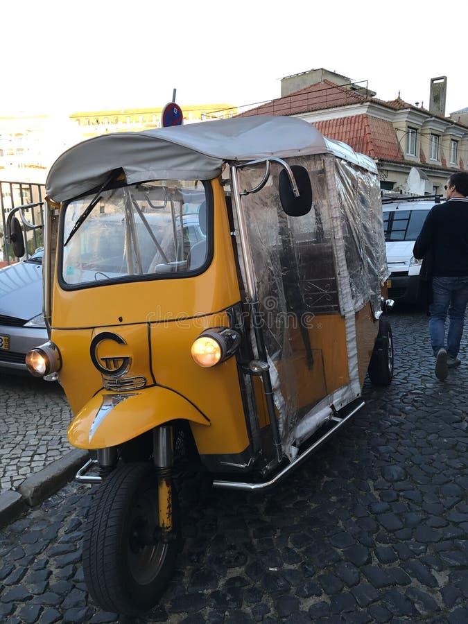 Tuktuk w Lisbon fotografia royalty free