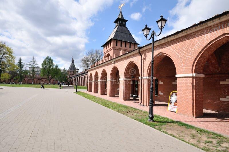 Tula Kremlin som är historisk, srchitecture, turism royaltyfri bild
