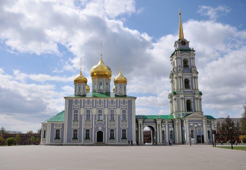 Tula Kremlin som ?r historisk, srchitecture, turism arkivfoto