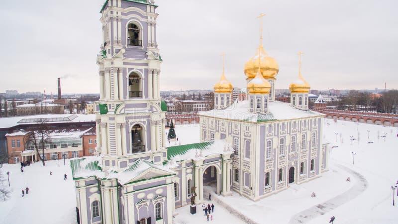 Tula Kremlin w zimy widok z lotu ptaka 05 01 2017 fotografia stock