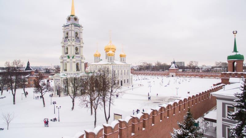 Tula Kremlin w zimy widok z lotu ptaka 05 01 2017 obrazy royalty free