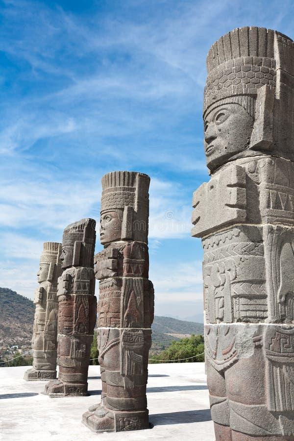 Tula - ruínas Archaeological de Toltec imagem de stock royalty free