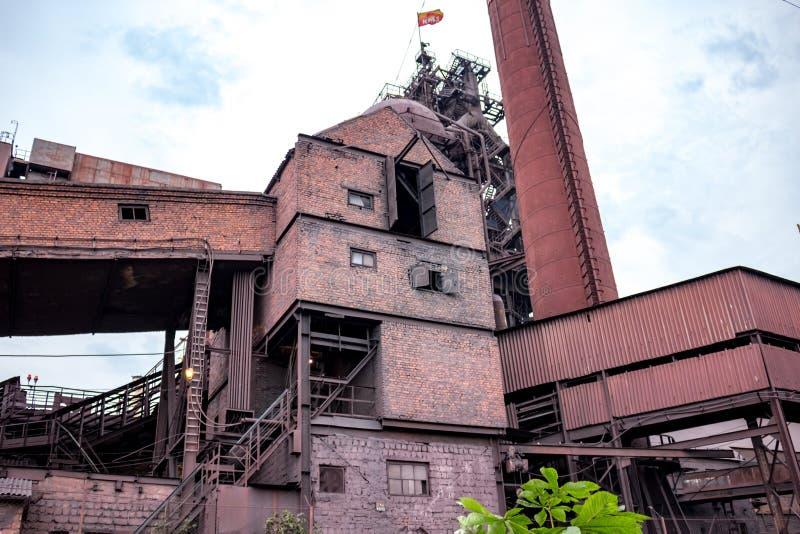 Tula Ryssland - Juni 2015: Kosogorsk järn- och stålarbeten fotografering för bildbyråer