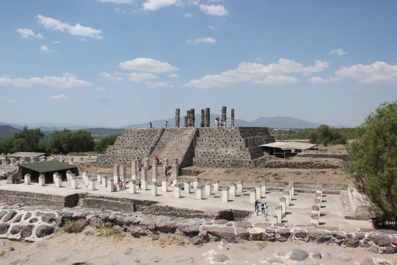 Tula Site Pyramid B o piramide di Quetzalcoatl fotografia stock