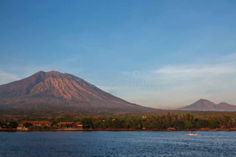 Tulambenstrand Bali Indonesië stock afbeelding