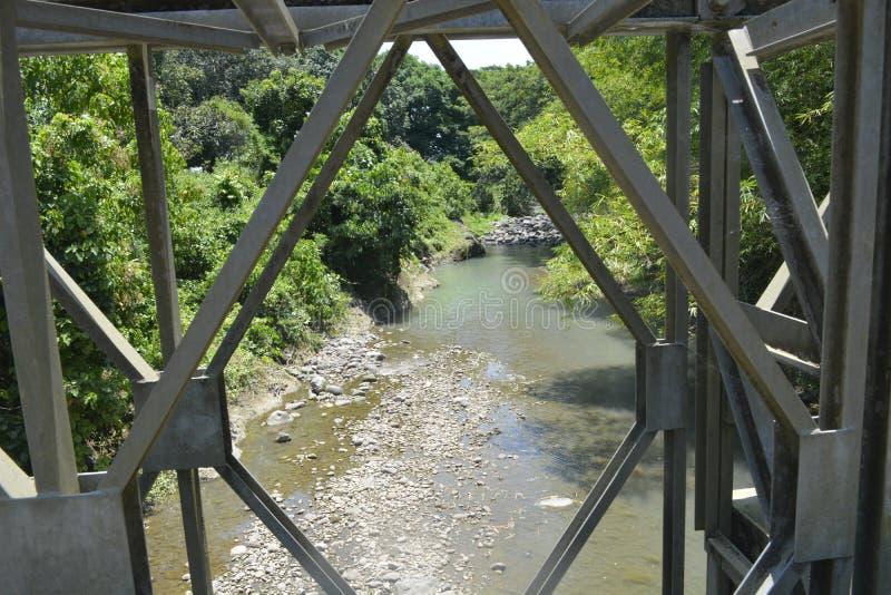 Tulay在barangay Ruparan的ng Pangulo桥梁, Digos市,南达沃省,菲律宾 图库摄影