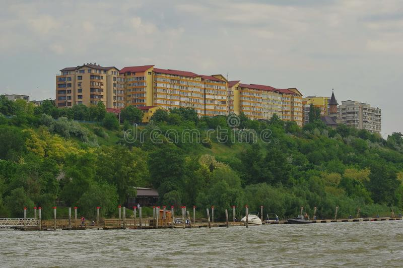 Tulcea city and the Danube river 4 royalty free stock images