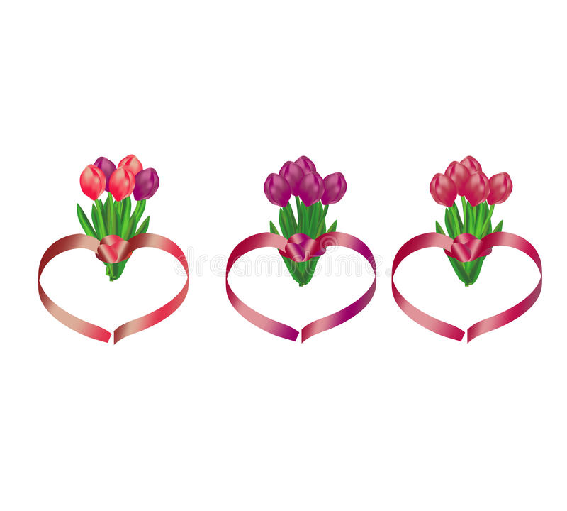Tulip Bouquets Stock Image