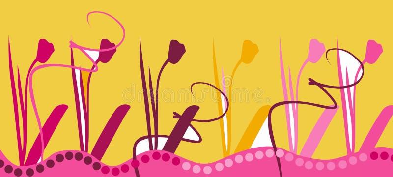 Tulip card design stock illustration