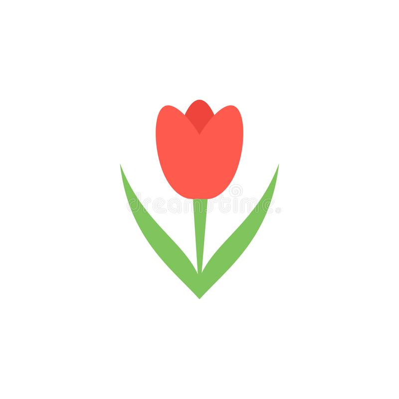 tulip colored icon. Element of colored autumn icon for mobile concept and web apps. Colored tulip icon can be used for web and mob vector illustration