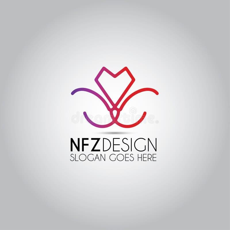 Tulip Design Vector Logo vektor illustrationer