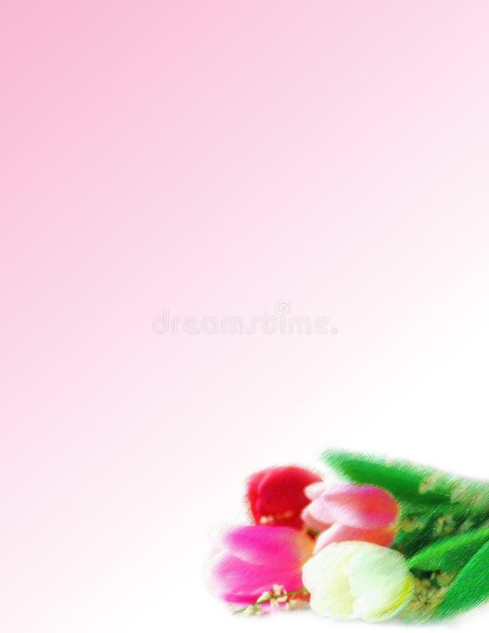 Tulip estacionário ilustração royalty free
