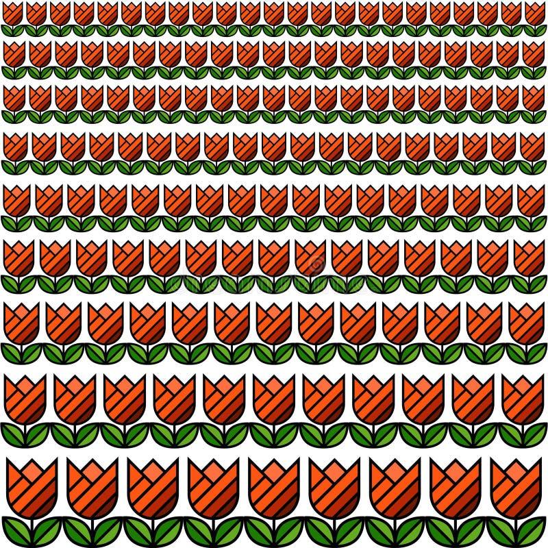 Tulip Field Texture Pattern stockbilder