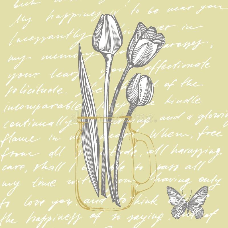 Tulip flower graphic sketch illustration. Botanical plant illustration. Vintage medicinal herbs sketch set of ink hand vector illustration