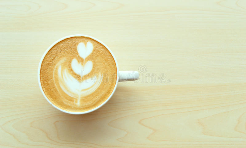 Tulip Latte Art royalty free stock image