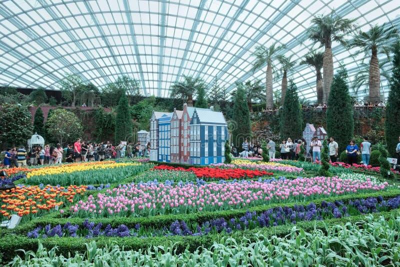 Tulip Mania trädgårdar vid fjärden fotografering för bildbyråer