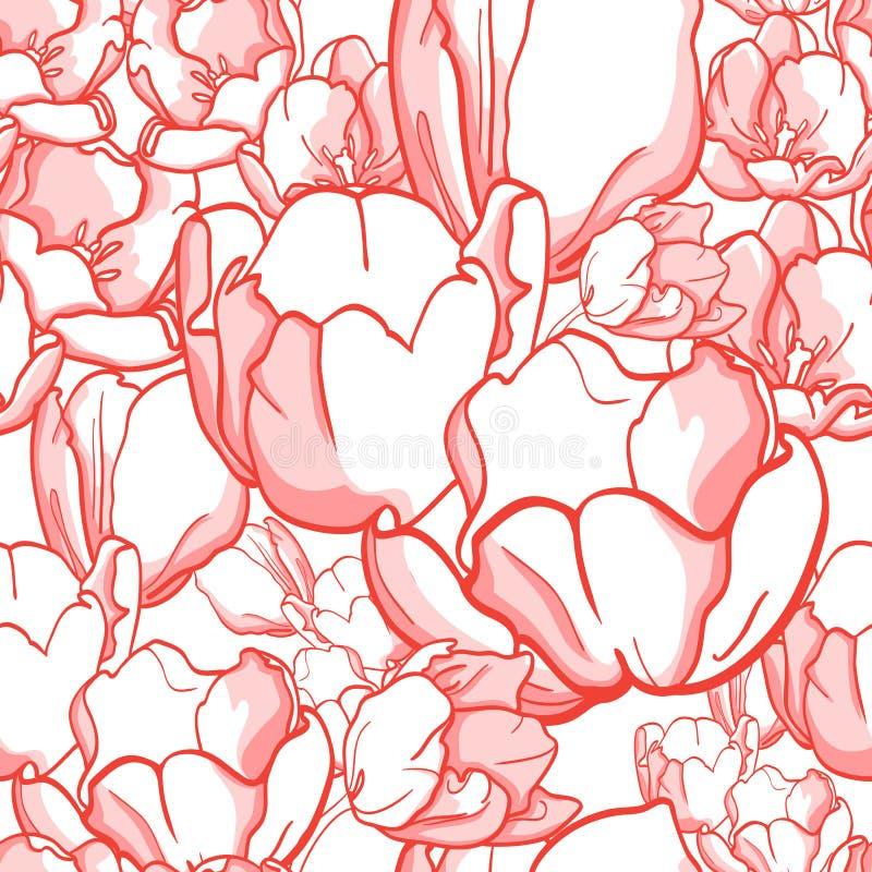 Download Tulip pattern stock illustration. Image of pattern, elegant - 24355473