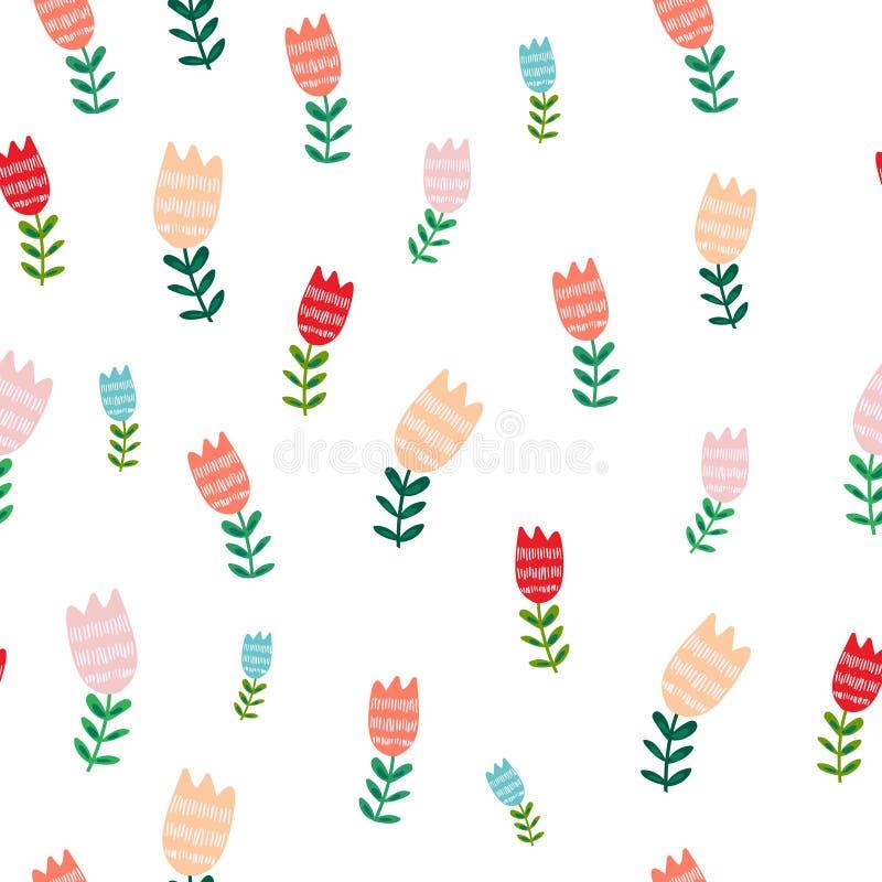 Tulip Pattern ilustração royalty free