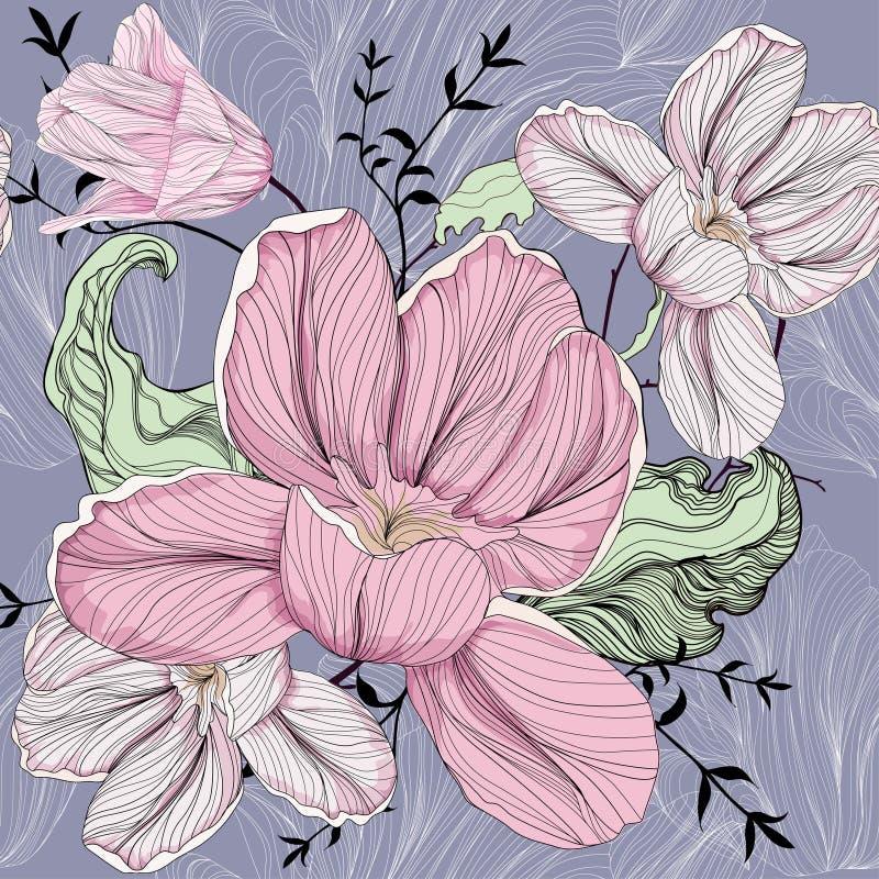 Tulip pattern vector illustration