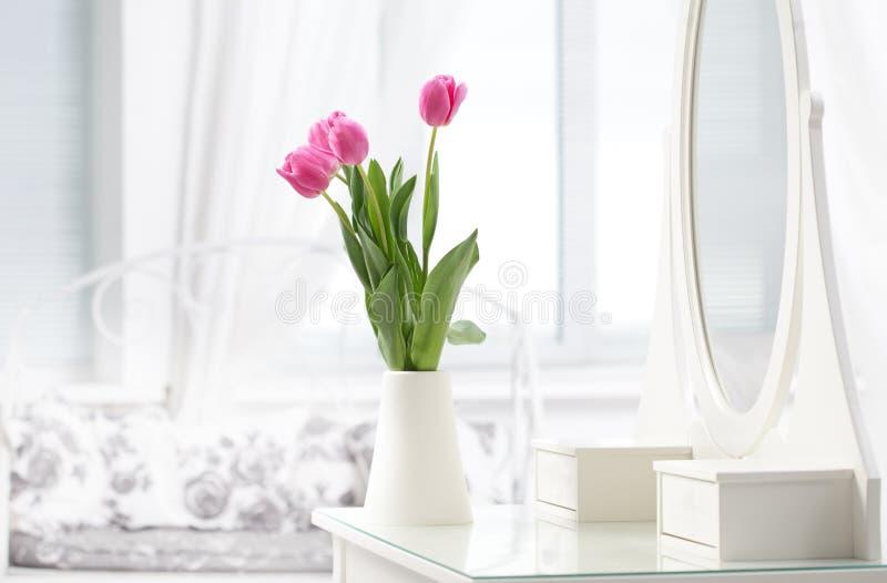 Tulip in room stock photos