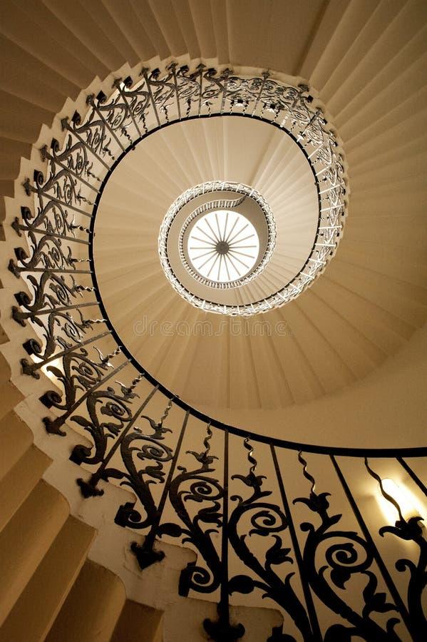 Tulip Stairs, Chambre de Queen's, Greenwich, Angleterre photo libre de droits
