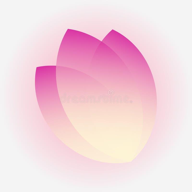 Download Tulip Three Petals Ikone, Firmenzeichen Mit Transparentem Purpur Vektor Abbildung - Illustration von element, blume: 96935870
