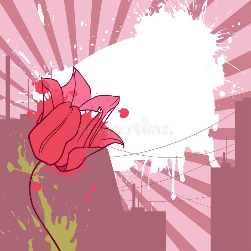 Tulip urbano ilustração do vetor