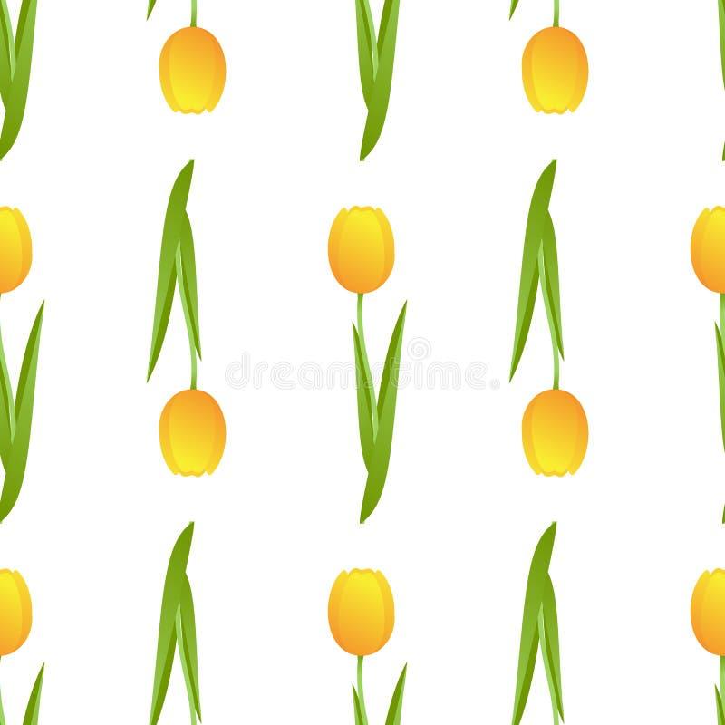 Tulipa sem emenda ilustração stock