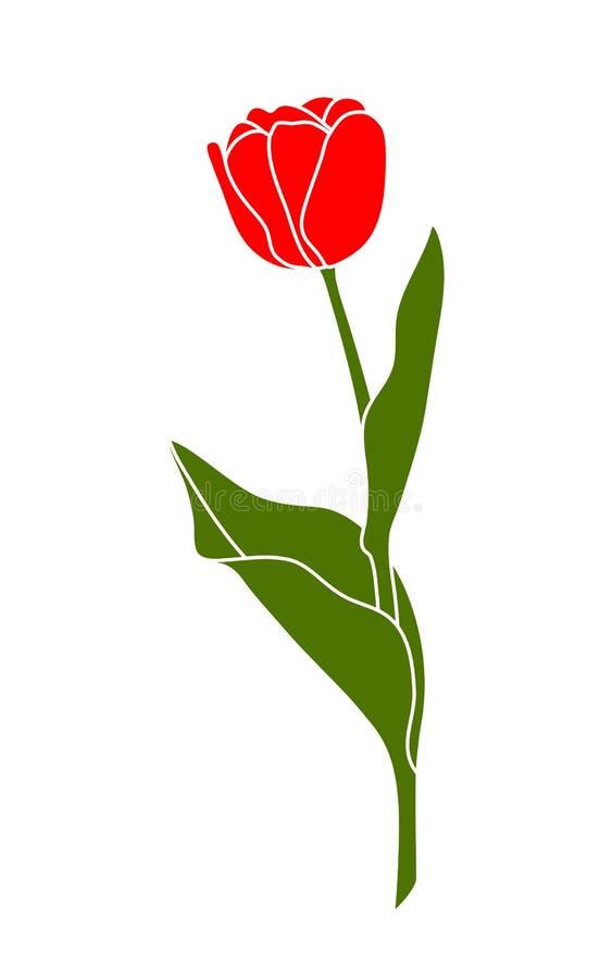 Tulipa ilustração stock