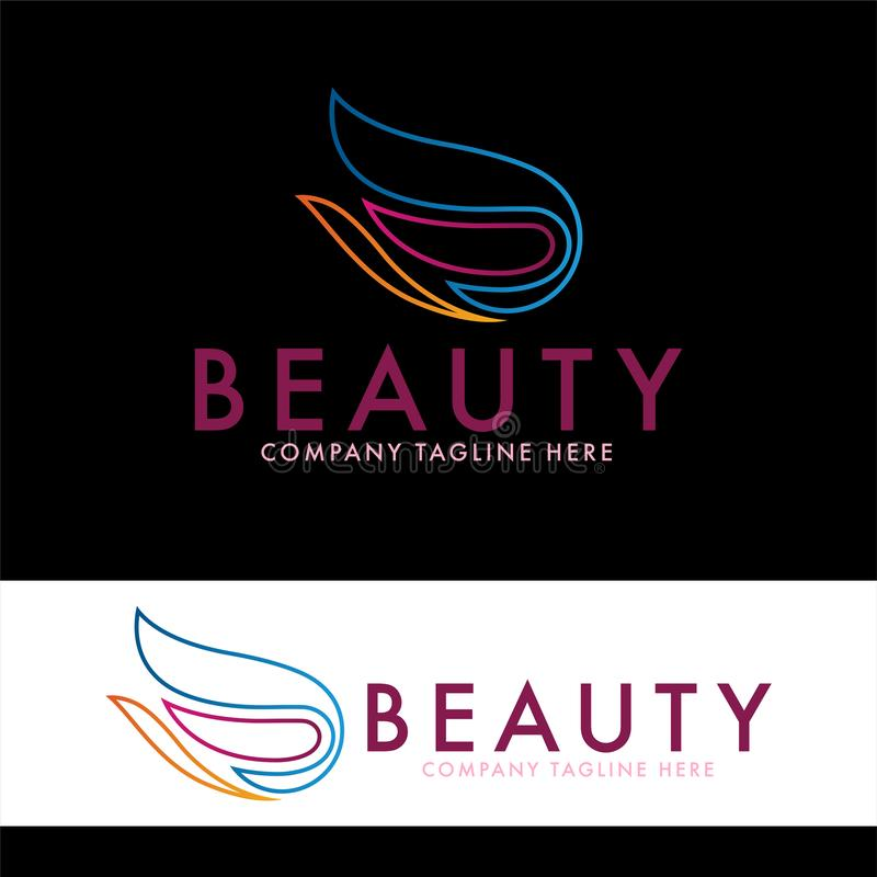 Tulipan i piękno logo projekta szablon ilustracji