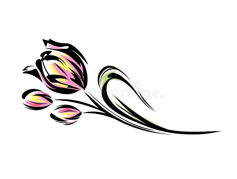 Tulipanes libre illustration