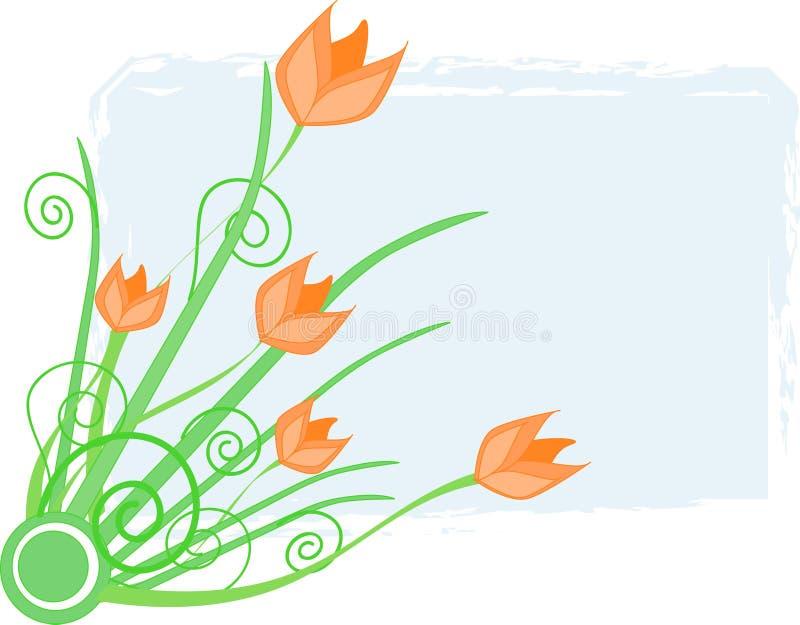 Tulipanes anaranjados ilustración del vector