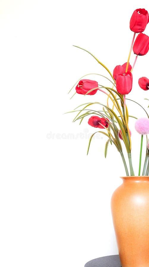Tulipanes artificiales imagenes de archivo