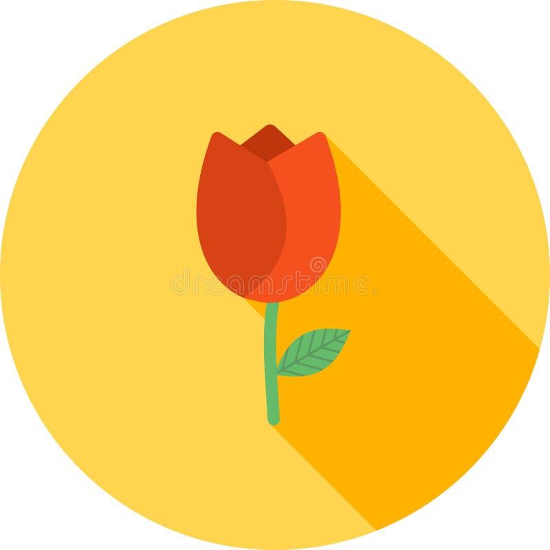 Tulipanes en crisol stock de ilustración