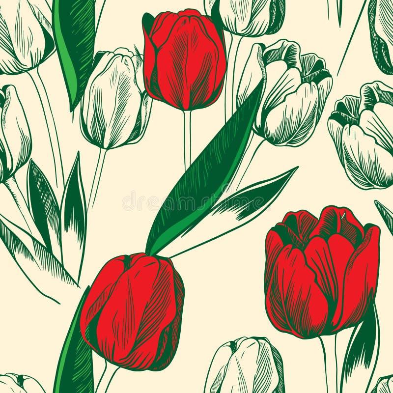 Tulipanes inconsútiles libre illustration