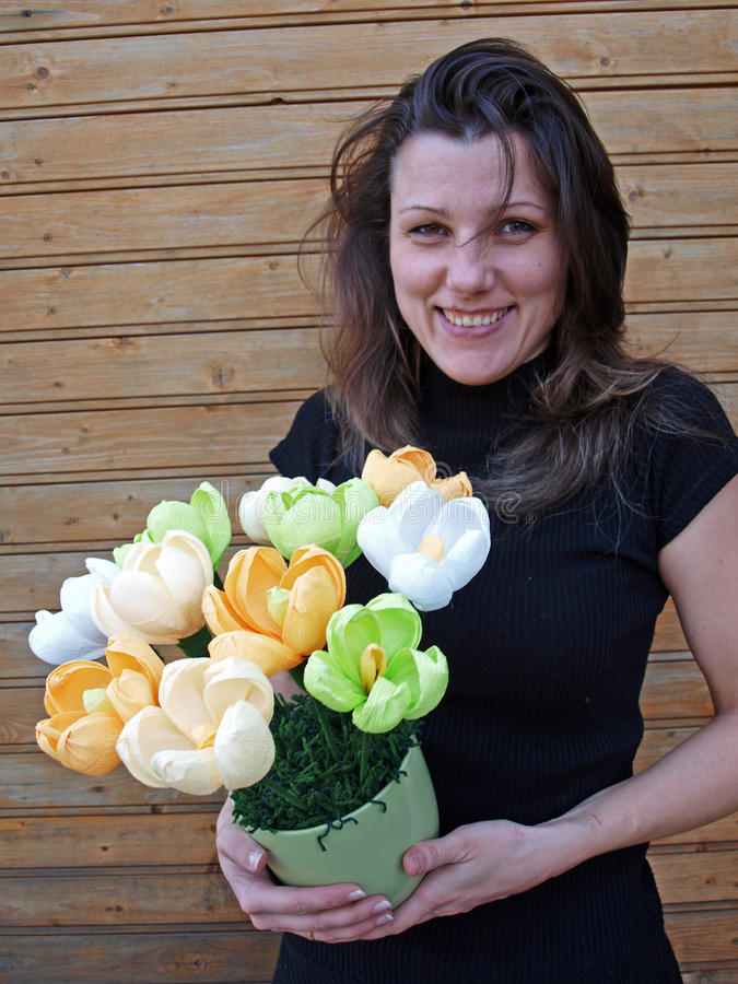 Tulipani artificiali fotografia stock