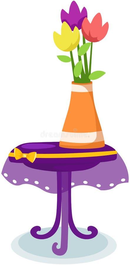 tulipani del fiore in vaso sulla tabella royalty illustrazione gratis