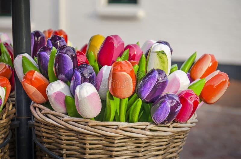 Tulipani di souvenir artificiali fotografia stock libera da diritti