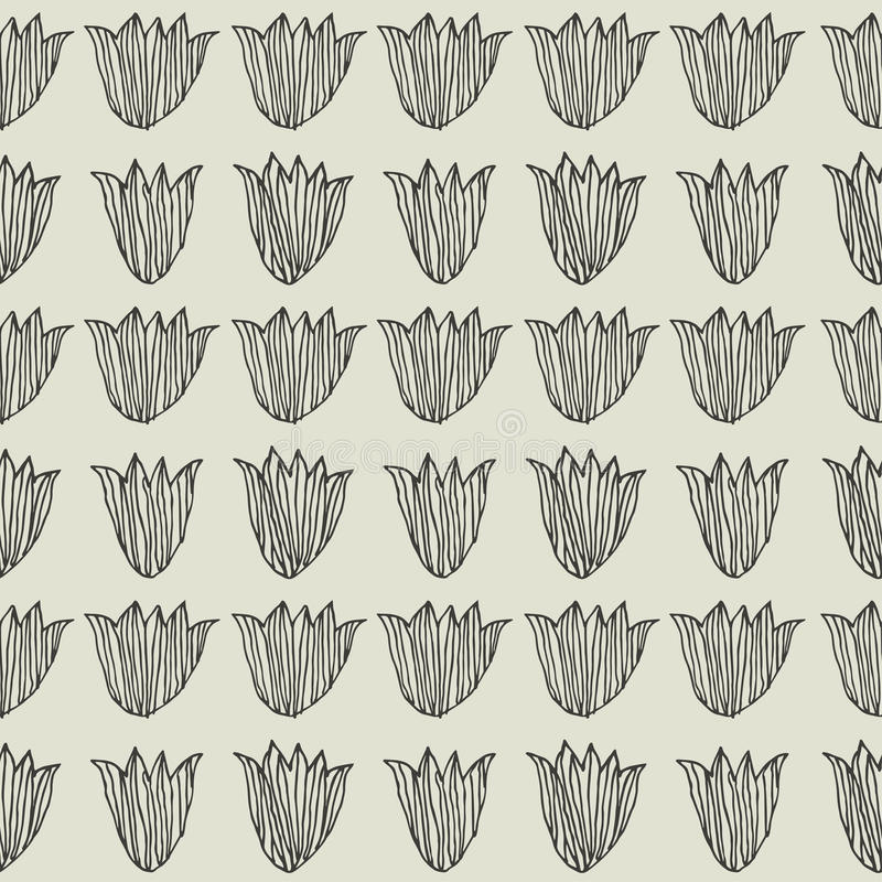 Tulipani Reticolo floreale senza giunte royalty illustrazione gratis