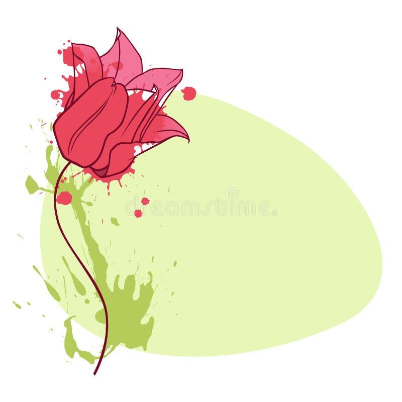 tulipanowa winieta royalty ilustracja