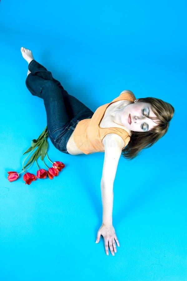 tulipany nastolatków. zdjęcia royalty free