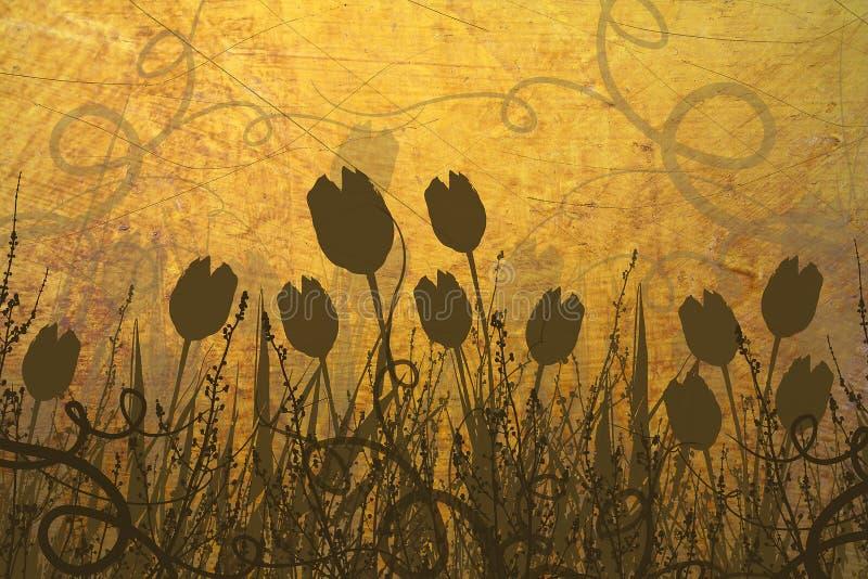 tulipany wiosna ilustracja wektor