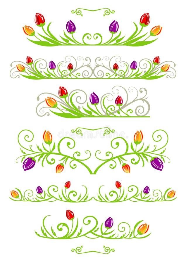 tulipe de source de cadres illustration libre de droits