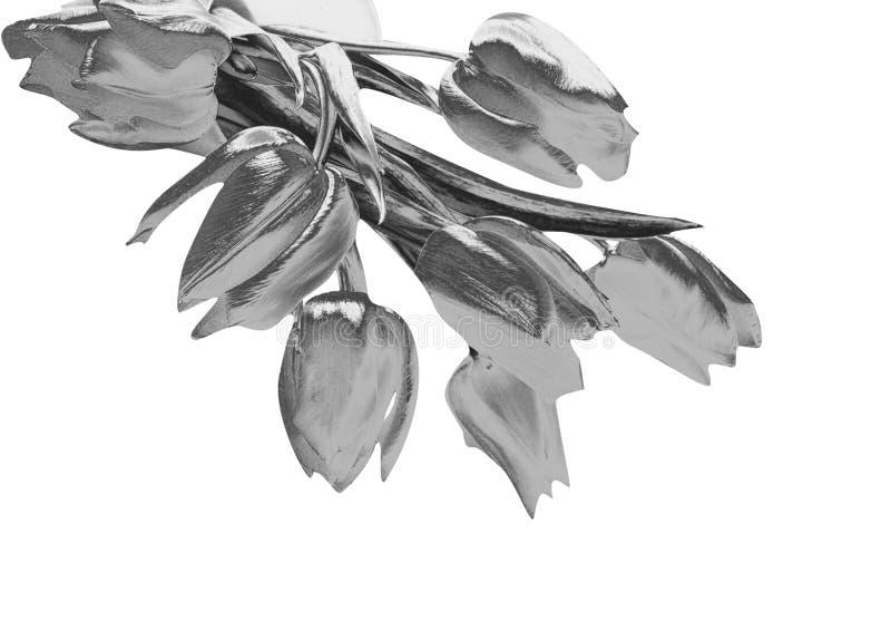 Tulipes argentées illustration de vecteur